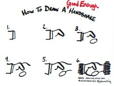 In this tutorial, graphic facilitator Jeannel King shows you how to draw a Good Enough handshake in six easy steps.