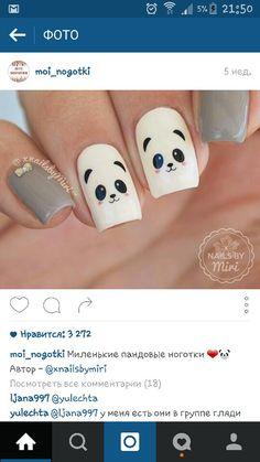 Cute panda nails