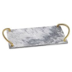 Make any gathering extra special with Reed & Barton's Roseland Challah Tray. The traditional shaped board is beautifully crafted in marble and accented with gold handles that add a modern aesthetic. Woodworking Software, Woodworking School, Woodworking Basics, Woodworking Supplies, Teds Woodworking, Woodworking Chisels, Woodworking Videos, Woodworking Pipe Clamps, Scandinavian Candles
