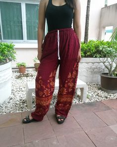 Hey, I found this really awesome Etsy listing at https://www.etsy.com/listing/196443402/elephant-yoga-pant-carmine-red-pants