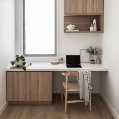 The Best Modern Home Office Design Elements Office Nook, Home Office Space, Office Workspace, Home Office Design, Home Office Decor, House Design, Home Decor, Office Setup, Office Ideas