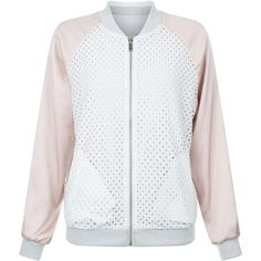 New Look Shell Pink Reversible Lace Bomber Jacket ($46) ❤ liked on Polyvore featuring outerwear, jackets, shell pink, summer bomber jacket, zip front jacket, blouson jacket, flight jacket and lace jacket