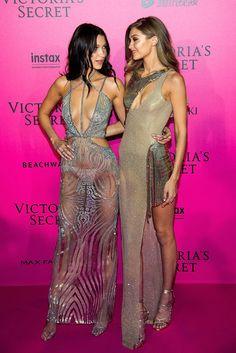 Gigi and Bella Hadid at Victoria's Secret Show afterparty, 2016