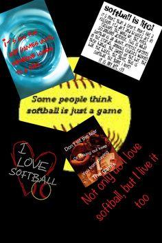Softball Softball Stuff, Girls Softball, Daughters, To My Daughter, School Scrapbook, Scrapbooking Ideas, Funny Stuff, Play, Baseball