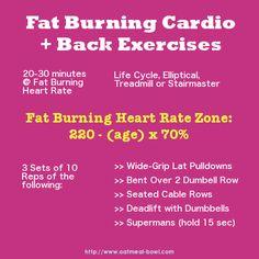 Fat Burning Cardio + Back Exercises