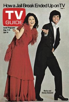 TV Guide August 7, 1976 - Marie and Donny Osmond of Donny and Marie.