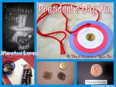 President's Day Activities for Kids including printable book from the Educators' Spin On It Winter Activities, Toddler Activities, Learning Activities, Preschool Ideas, Preschool Crafts, Craft Ideas, Daycare Themes, February Holidays, Presidents Day