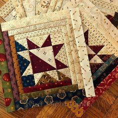 Patchwork blocks, phase two is done! Patchwork blocks, phase two is done! Star Quilt Blocks, Star Quilt Patterns, Star Quilts, Scrappy Quilts, Mini Quilts, Block Quilt, Quilt Kits, Log Cabin Quilt Pattern, Log Cabin Quilts