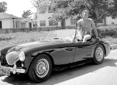 Clint Eastwood and his Austin Healey
