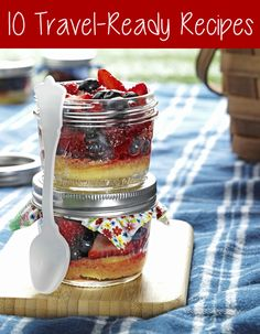 10 Travel-Ready Recipes - Pretty My Party #travel #recipes