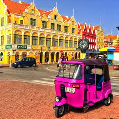 Touring the capitol of Curacao was like stepping into a big box of Crayola Crayons.