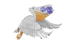 Pelican clip LuxArtAsia: Breathtaking Van Cleef & Arpels jewels on view in Southeast Asia Bird Jewelry, Animal Jewelry, Jewelry Art, Vintage Jewelry, Van Cleef And Arpels Jewelry, Van Cleef Arpels, Grace Kelly, Oeuvre D'art, Bird Feathers