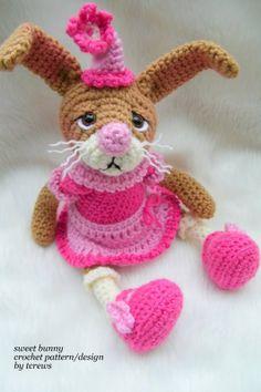 Sweet Bunny Rabbit, a crochet PDF pattern by TLC. via Etsy..