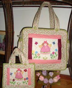 Bolsa Maternidade e Mini Bolsa | Patchwork com carinho | 587CB - Elo7