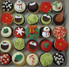 Xmas MiniCakes Minicakes #MadAboutMiniCakes We love these! miniatur, butterfli, minicak minicak, xmas minicak, christma minicak, mini cupcakes, holiday cupcakes, mini cakes, christmas cupcakes