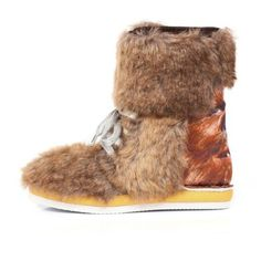 Irregular Choice for Women: Star Wars Chewbaca Boot -   Protect your feet from the fearsome winter weather with our trusty Chewbacca boots. Brown faux fur, silver laces and chunky rubber soles with digital Chewbacca prints across the counter ensure that this formidable pair are a worthy tribute to Han Solo's loyal sidekick.  Heel Hight 2.6cm  Fur Chewbacca