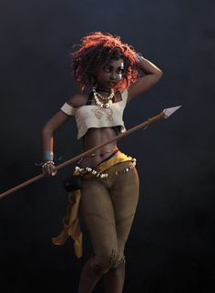 This one is inspired by loish. As always, deeply influenced by stroggtank. With subtle hints of The Hitchhiker's Guide to the Galaxy because. Made in Cinema ZBrush, Marvelous Designer, and DAZ Studio. Rendered with NVIDIA Iray at 10000 pix Female Character Design, Character Modeling, 3d Character, Black Girl Art, Black Women Art, Art Girl, Black Characters, Fantasy Characters, Female Characters