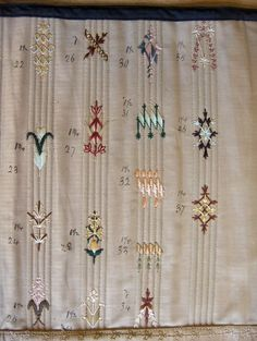 New Photographs sewing tutorials corset Tips Love this corset flossing sampler! Victorian Corset, Victorian Fashion, 1850s Fashion, Edwardian Dress, Fashion Goth, Embroidery Stitches, Embroidery Designs, Embroidery Machines, Hand Embroidery