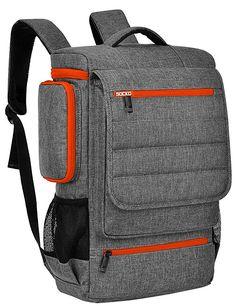 Amazon.com: Laptop Backpack 17.3 Inch,BRINCH Water Resistant Travel Backpack for Men Women Luggage Rucksack Hiking Knapsack College Shoulder Backpack Fits 17-17.3 Inch Laptop Notebook Computer,Grey-Orange: Gateway Backpack Storage, Men's Backpack, Leather Notepad, Orange Backpacks, Business Laptop, Backpacks For Sale, Shoulder Backpack, Notebook Laptop, Hiking