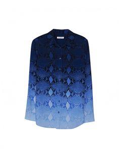 EQUIPMENT SLIM SIGNATURE Shirt in Mazarine Blue