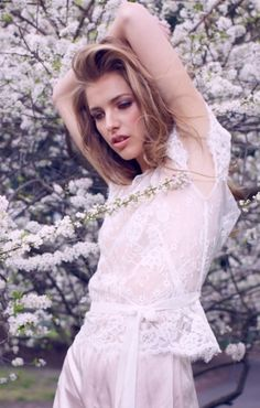 Beautiful bridal portrait #lace #florals #beauty   Photo by: 35mm Fashion Photography