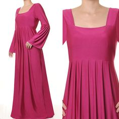 Fashion Islamic Square Neck Abaya Long Bell Sleeves by MissMode21, $32.00