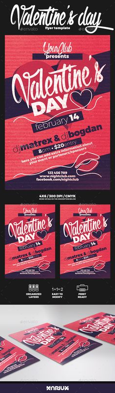 Valentine Flyer Valentineu0027s day, Party events and Flyer template - examples of a flyer