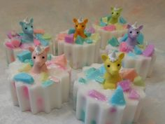 Treat the unicorn lover in your life to a truly magical experience. Each of these moisturizing one of a kind soaps found only at CindysBathCreations is enhanced with real coconut oil and embellished with a white unicorn against a pastel background of your choice. The mere act of