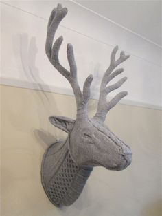 Hand knitted stag's head by harrietclinch on Etsy
