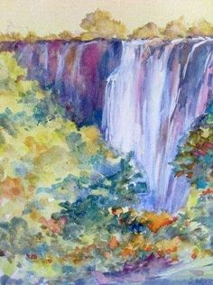 Sharon Wood - Waterfall #art #landscape