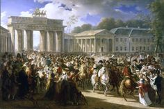 Napoleon in Berlin (Meynier). After defeating Prussian forces at Jena, the French Army entered Berlin on 27 October 1806. (wiki)