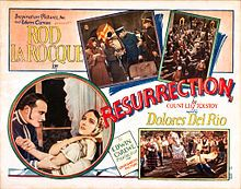 Resurrection (adapted from Tolstoy) 1927 silent film. mentioned by Viktor Frankl