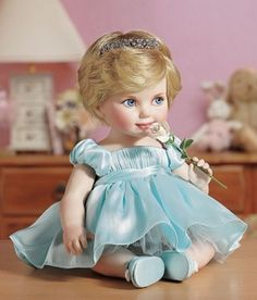 The Princess Diana Porcelain Portrait Baby Doll
