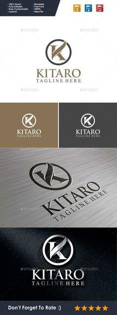Letter K Kitaro - Logo Design Template Vector #logotype Download it here: http://graphicriver.net/item/letter-k-logo-kitaro/9989481?s_rank=140?ref=nexion