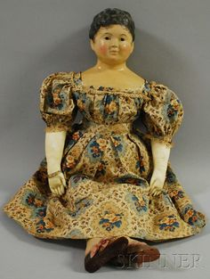 Papier-mâché Doll | Sale Number 2530M, Lot Number 1025 | Skinner Auctioneers