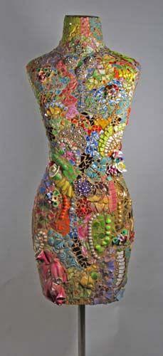 Melissa's Motifs Pique Assiette Dress Form