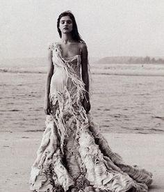 """Alexander McQueen 2003 Harper's Bazaar...mermaid chic """"The Shipwreck Dress"""""""