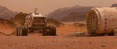 Rover and Base from The last days on Mars (2013)