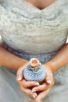 Vintage pastel wedding cupcake with rose detailing10 Dreamy Dresses  Ideas for brides via Hitched .  . Steelasophical Steel Band & DJ Wedding Day Music www.steelband.co.uk