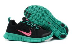 buy popular 8462c 7db34 Black New Green Pink Nike Free Powerlines II Women s Shoes Best Nike  Running Shoes, Running