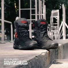 1c66758a87751 #black #blackboots #doublered #army #armystyle #armyboots #armyfashion # military #militarystyle #militaryboots #unisex #soldier #offroad  #offroadboots ...