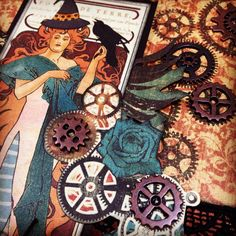 How to Create a Steampunk Halloween Card