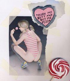 alice pigtails swimsuit lollipop