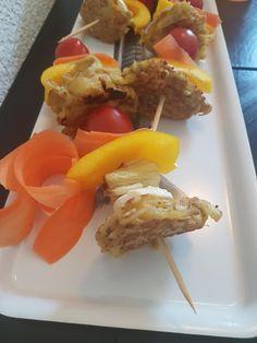 5hugs: Kinder-Kebabs (vegetarisch) Kebab, Bbq, Cheese, Sugar, Food Food, Children, Barbecue, Barbecue Pit