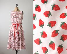 I especially love clothes with a strawberry print.