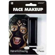 """Amscan Party Perfect Team Spirit Cream Face Makeup Accessory (1 Piece), Black, 5.7 x 4"""" -- Details can be found by clicking on the image."""