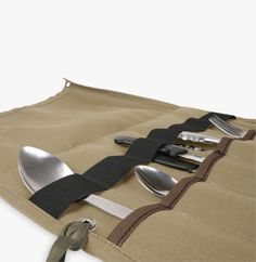 Waxed canvas camping utensil roll. Keep your camp cooking utensils safe and organised. Super-rugged and guaranteed for life. Buy online. Fast shipping.