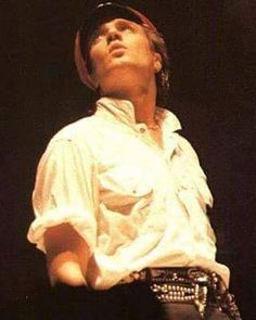 @duranduran #PastBlast Simon Le Bon on stage in 1984 during a performance of 'The Chauffeur'