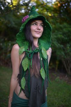 hand felted fairy hats and hoods - Google Search