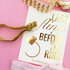 Pretty Gold Foil Print Party Favors from emmaflhair.etsy.com